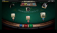 3D Blackjack table game screenshot image